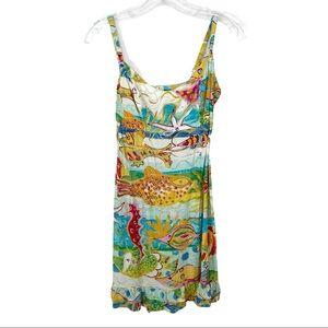 Jams World tropical Hawaiian sun dress XS fish